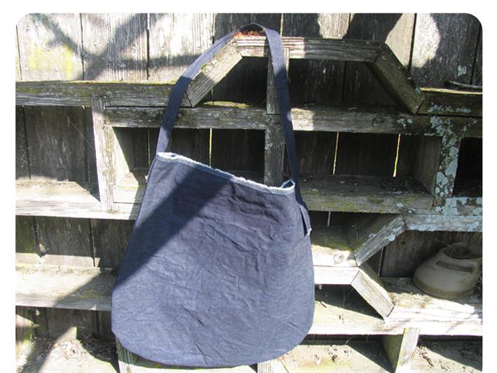 dark jean bag